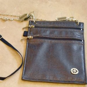 HipKlip Pewter Bag/Wallet with Chain strap